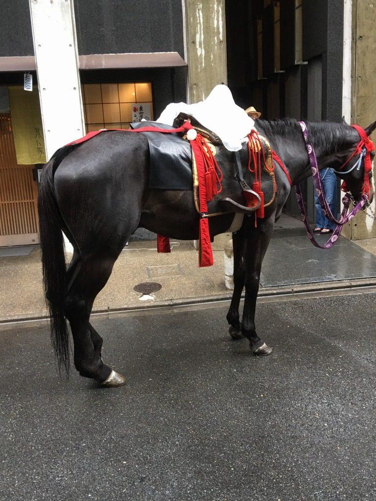 えほんごラボ2017祇園祭にて馬の写真